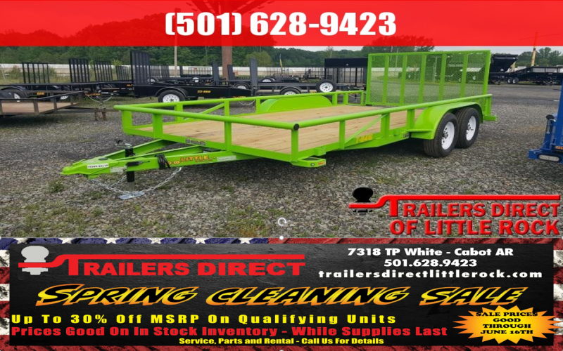 BLOWOUT!! 2018 Doolittle Trailer Mfg Pipe Top 84x16 Utility Trailer