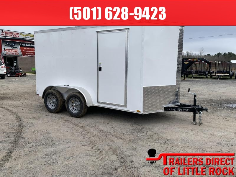 2019 Doolittle Trailer Mfg Razorback 6x12TA White Ramp Door Enclosed Cargo Trailer