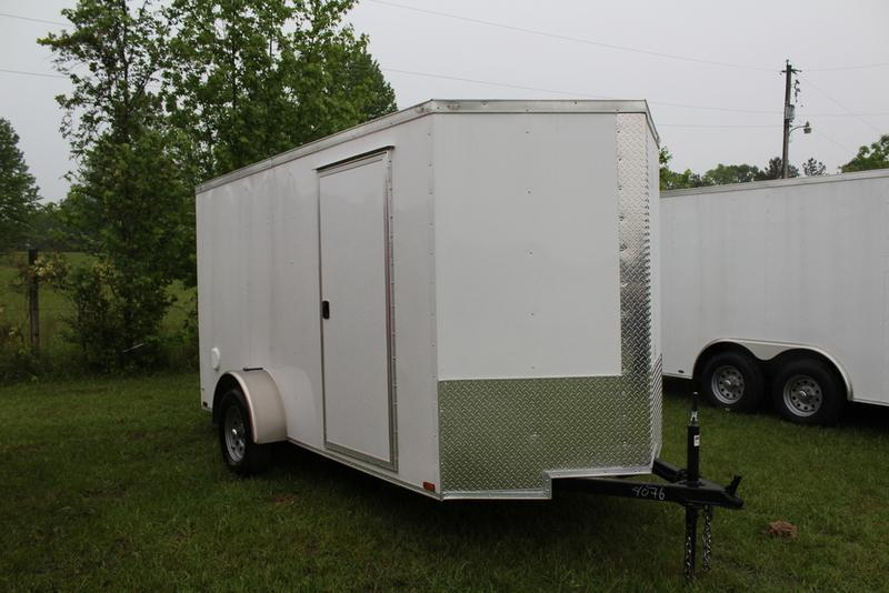 2017 Quality Cargo 6X12SA WHITE BARN DOOR