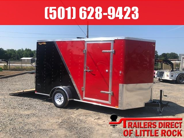 2019 Doolittle Trailer Mfg 2019 Doolittle Bullitt 7x12 Two Tone Ramp Door Enclosed Cargo Trailer