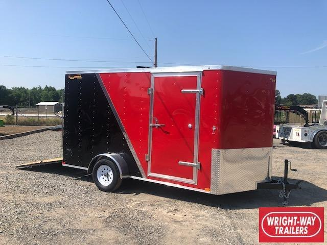 2019 Doolittle Trailer Mfg 2019 Doolittle Bullitt 7x12 Two Tone Ramp Door Enclosed Cargo Trailer