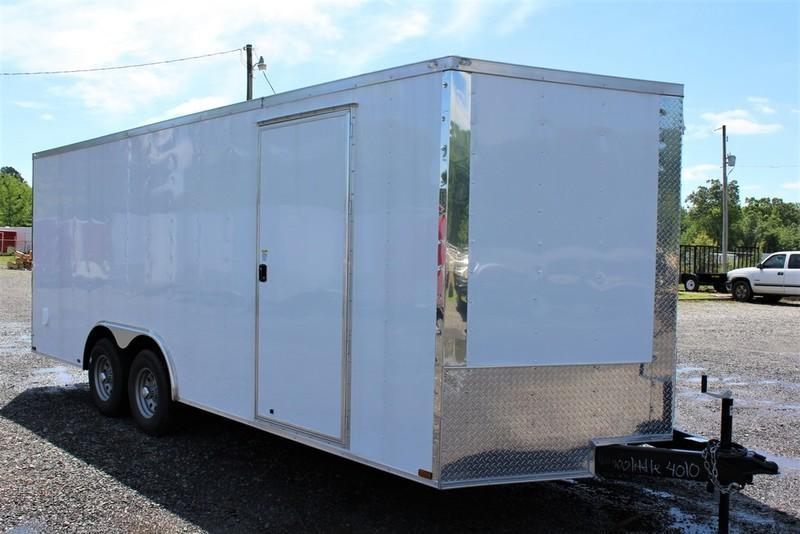 2017 Quality Cargo 8.5X18TA WHITE RAMP DOOR