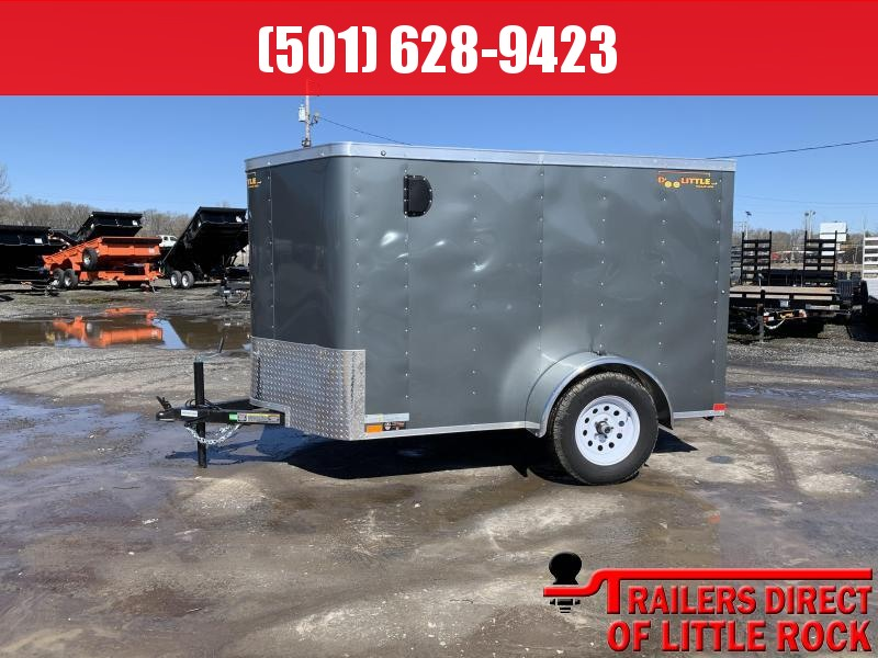 2019 Doolittle Trailer Mfg Bullitt 5x8 Gray Ramp Door Enclosed Cargo Trailer