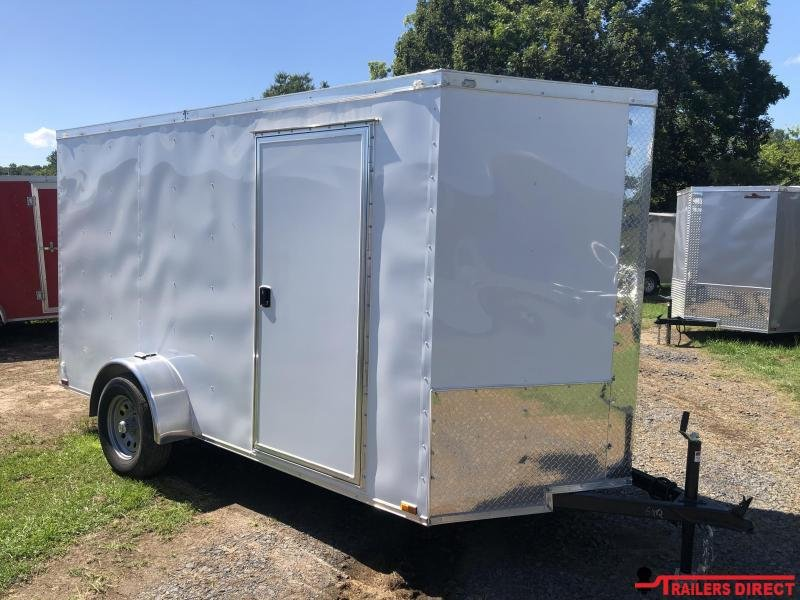 2018 Doolittle Trailer Mfg Razorback 6x12SA White Barn Door Enclosed Cargo Trailer