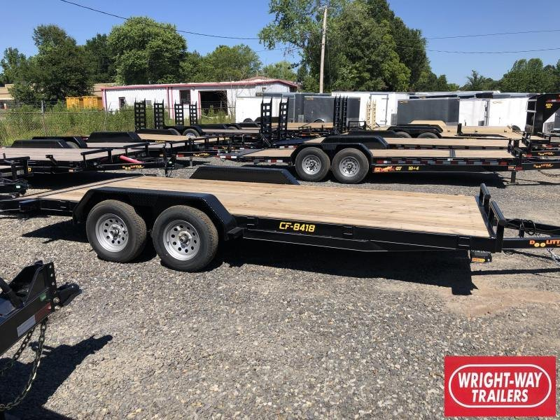2019 Doolittle Trailer Mfg CF 84x18 TA 7k Self Store Ramps Equipment Trailer