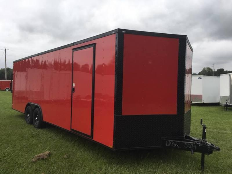 2018 Quality Trailers 8.5X24TA BLACKOUT RED RAMP DOOR