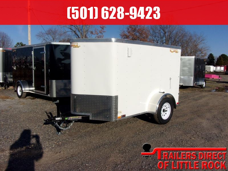 2018 Doolittle Trailer Mfg Bullitt 5x8 White Barn Door Enclosed Cargo Trailer