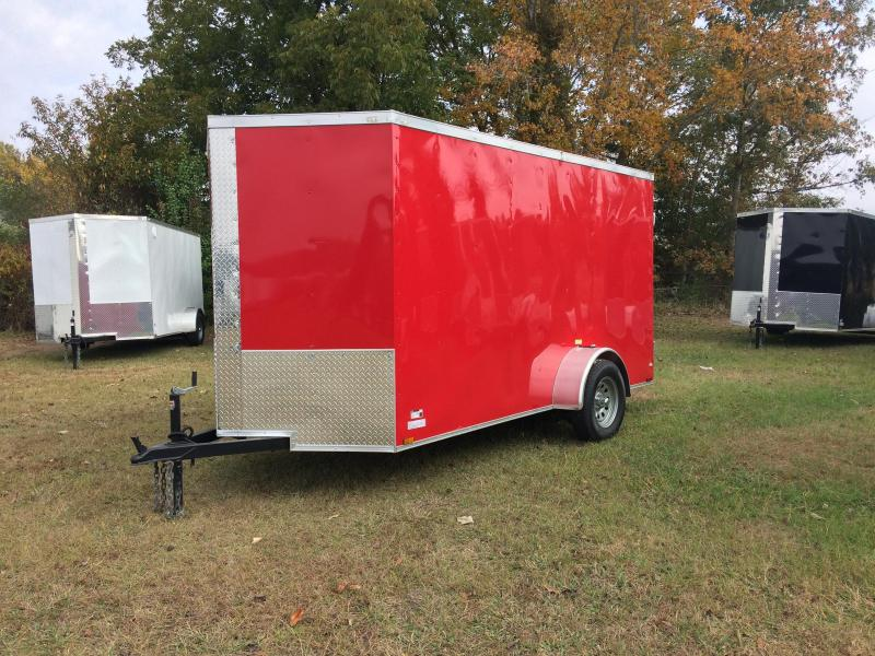 2018 Quality Cargo 6X12SA RED BARN DOOR