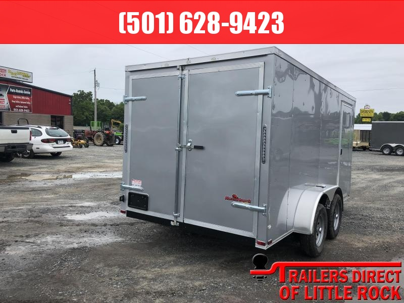 2019 Doolittle Trailer Mfg 2019 DOOLITTLE RAZORBACK 7X14TA Silver Barn Door Enclosed Cargo Trailer