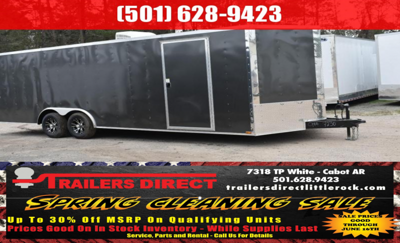 BLOWOUT!!! 2018 DooLitttle Trailers 2018 Doolittle Razorback 8.5x28 14k V-Nose Race Enclosed Cargo Trailer
