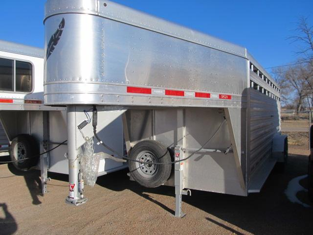 "2019 Featherlite 6'7"" x 20 Stock Trailer"