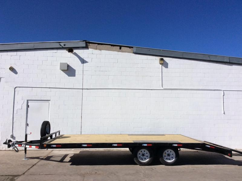 "2016 PJ Trailers 20' Light Duty Deckover 5"" Channel Trailer"