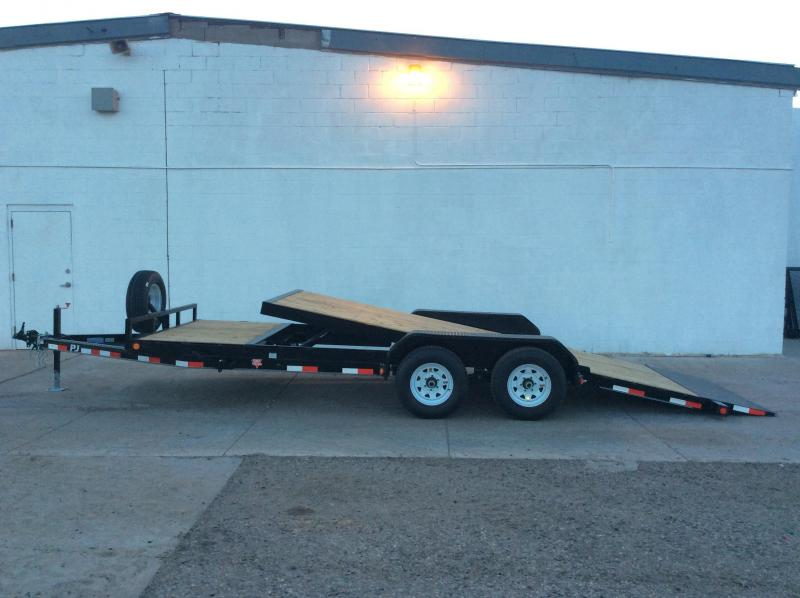 "2016 PJ Trailers 20' x 6"" Channel Equipment Tilt Trailer"