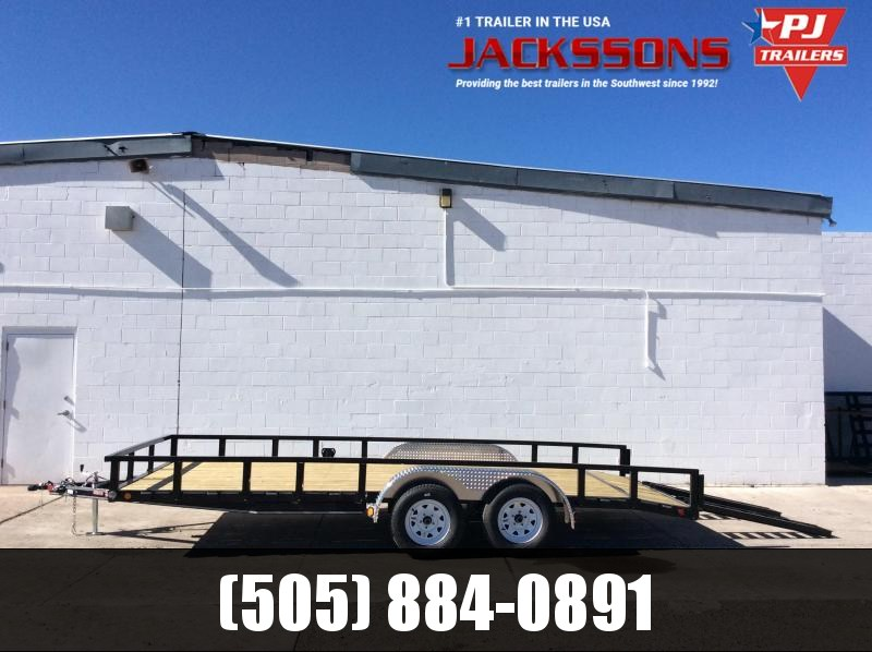 "2019 PJ Trailers 16' x 83"" Channel Utility Trailer"