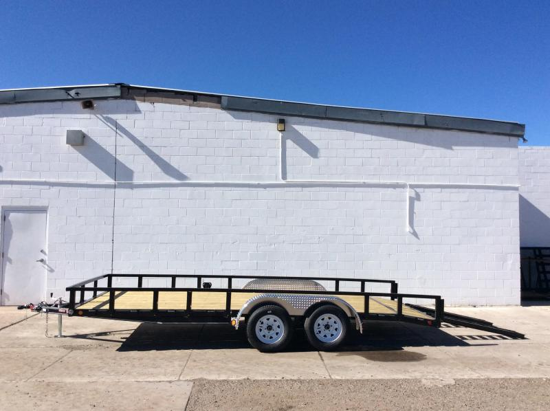 "2018 PJ Trailers 18' x 83"" Channel Utility Trailer"