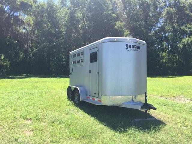 2011 Shadow Trailers 2 horse slant w/dressing room Horse Trailer