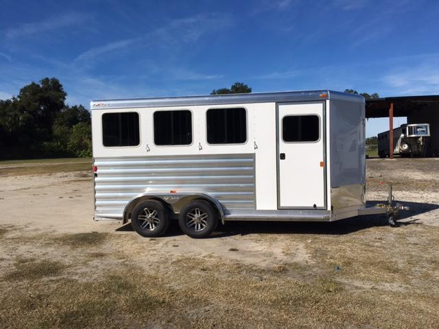 2017 Exiss Trailers 3 horse bumper pull w/dressing room Horse Trailer