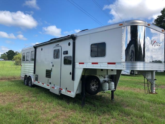 2017 Exiss Trailers 8' wide 3 horse w/10' lq slide Horse Trailer