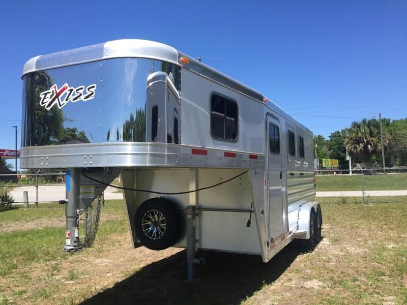 2016 Exiss 2 horse with dressing room Horse Trailer
