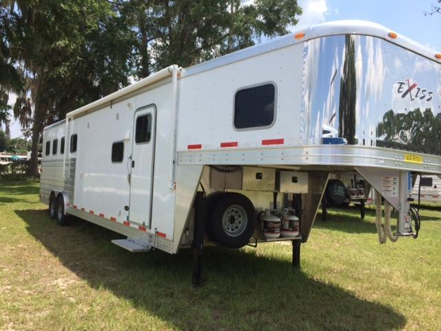 2015 Exiss 8 wide 4 horse with 12' living quarters Horse Trailer