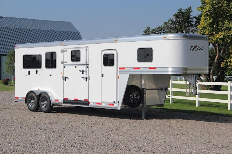 2019 Exiss Trailers 2 +1 insulated w/dressing room Horse Trailer
