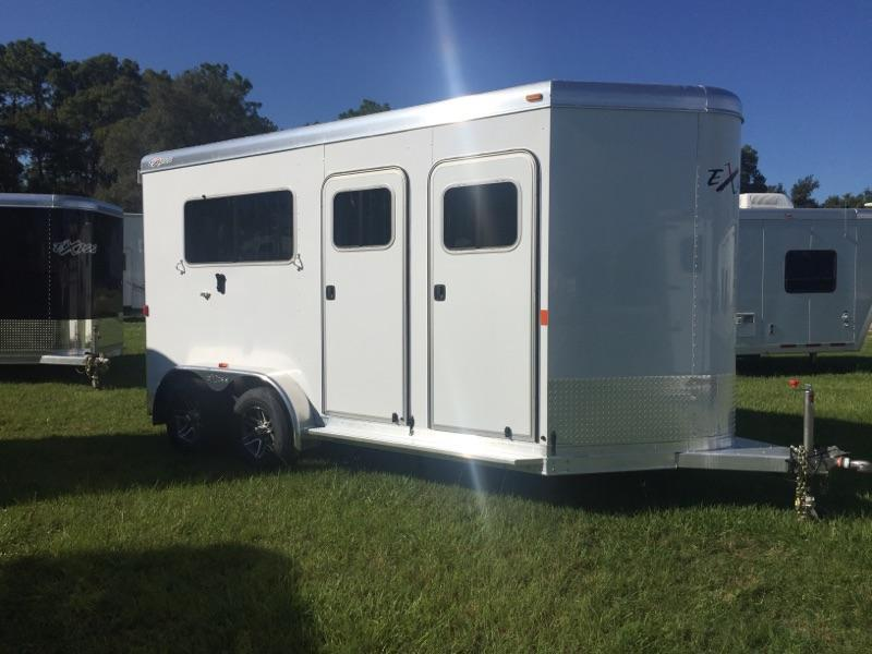 2019 Exiss Trailers 2 horse straight load bumper pull (model 724) Horse Trailer