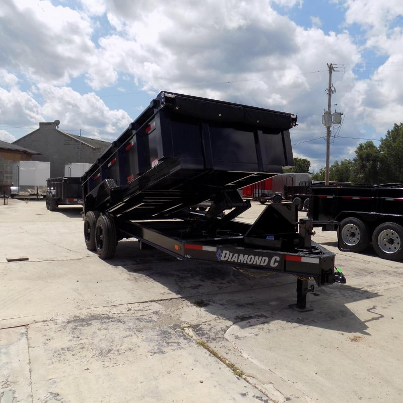 "New Diamond C Trailers 82"" x 14' Low Profile Dump Trailer With 10K Torsion Axles"