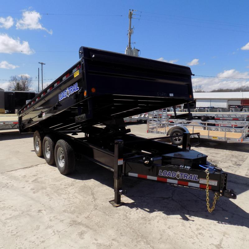 "New Load Trail 96"" x 14' Triple Axles Deckover Dump Trailer - Pintle"