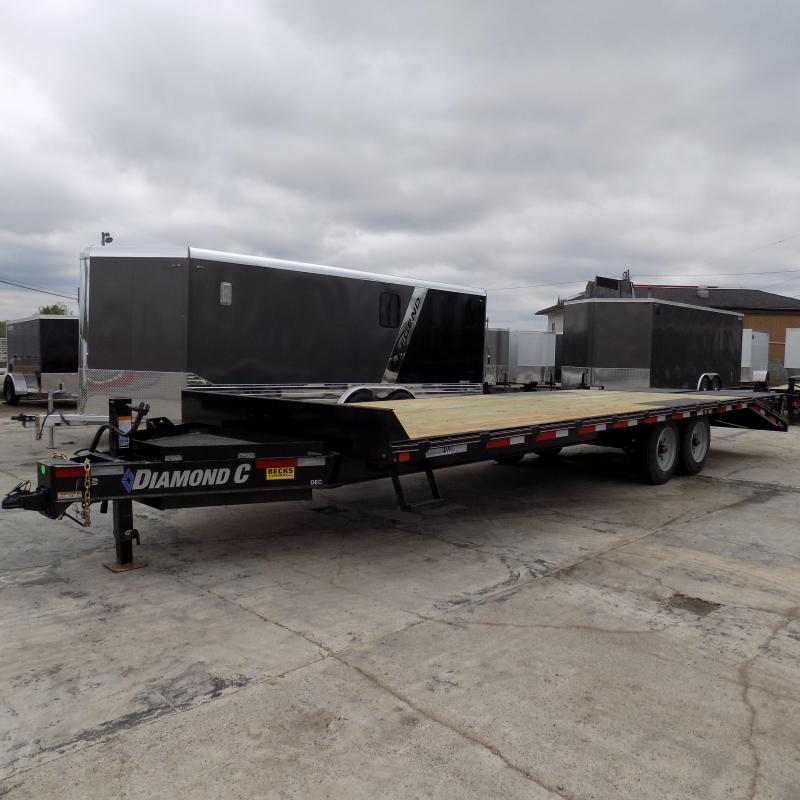 "New Diamond C 102"" x 26' Deckover Equipment Trailer With 8K Axle Upgrade"