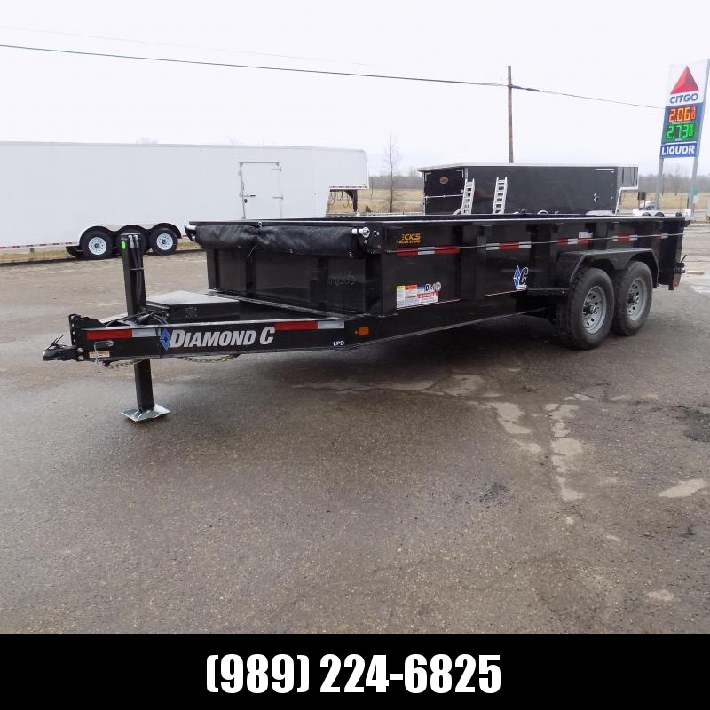 """New Diamond C 82"""" x 16' Low Profile Dump Trailer For Sale - $0 Down & Payments from $144/mo. W.A.C."""