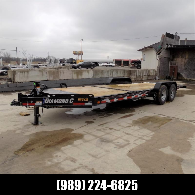 """New Diamond C Trailers 82"""" x 22' Tilt Deck Equipment Trailer - $0 Down & Payments from $135/mo. W.A.C."""