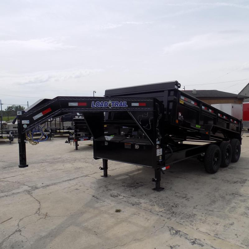"New Load Trail 83"" X 16' Triple Axle Gooseneck Dump Trailer"