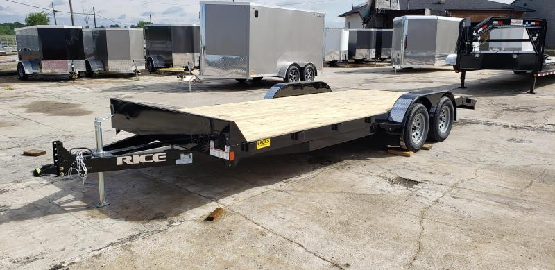 "New Rice Trailers 82"" x 20' Open Car Hauler For Sale"