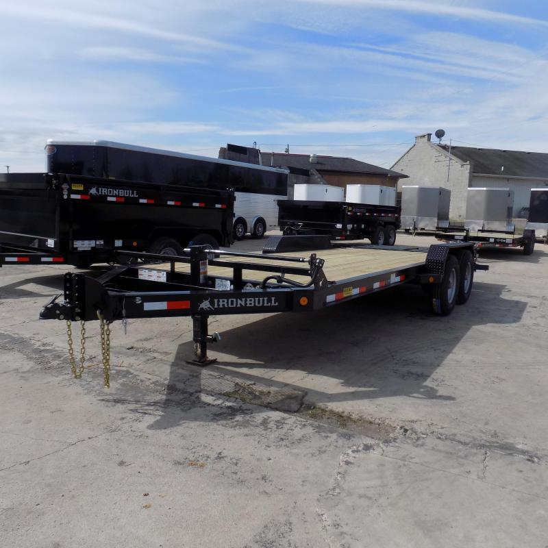 "New Iron Bull 83"" x 20' Equipment Trailer With Rampage Ramps"