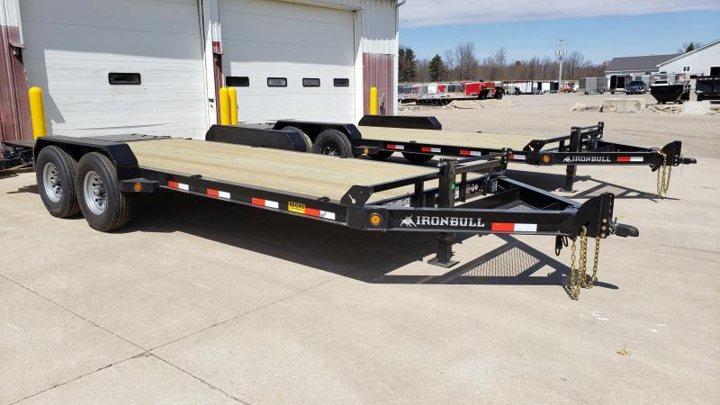 "New Iron Bull 83"" x 20' Equipment Trailer with 8K Axles Upgrade"