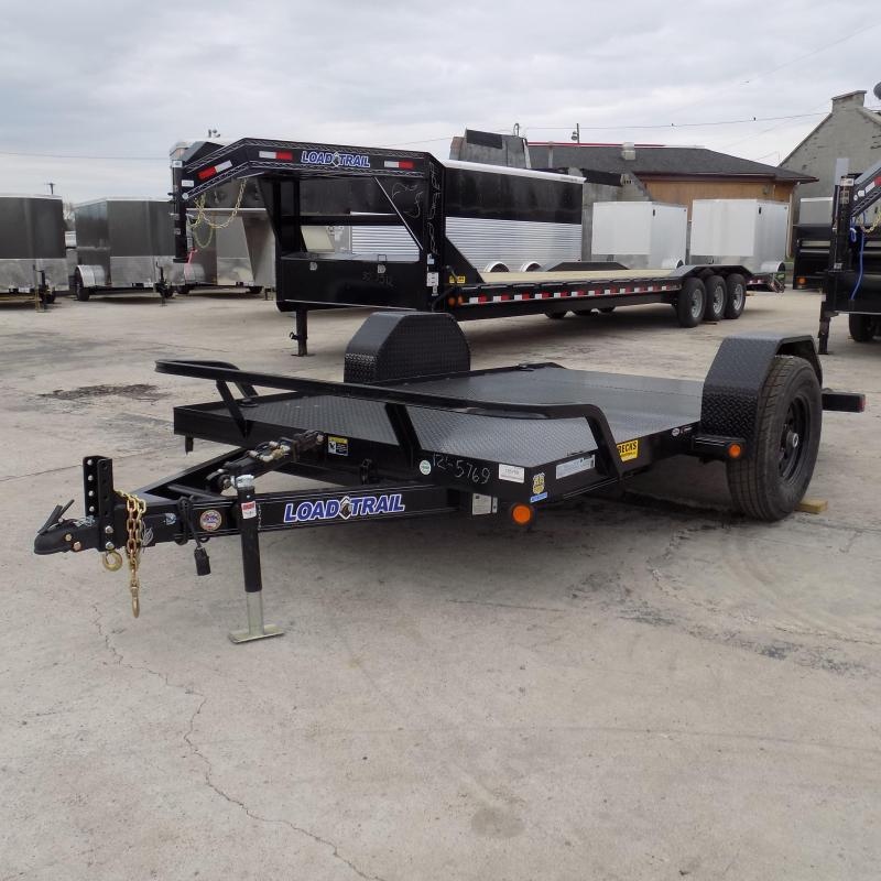 "New Load Trail 77"" x 12' Tilt Deck Sccisor Hauler - 7K Torsion Axle"