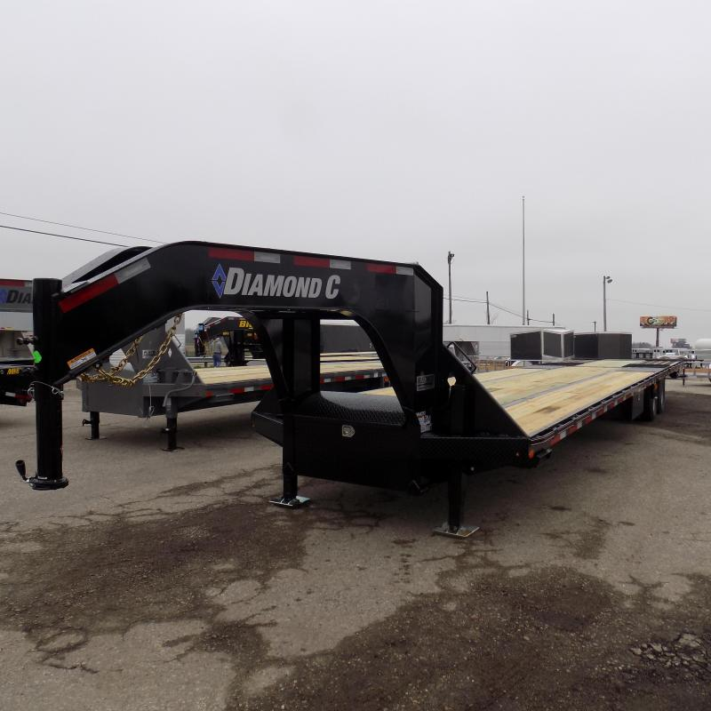 "New Diamond C 102"" x 40"" Gooseneck with Hydraulic Dove & Jacks"