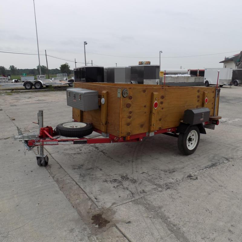 Used 4' x 8' High Side Utility Trailer For Sale