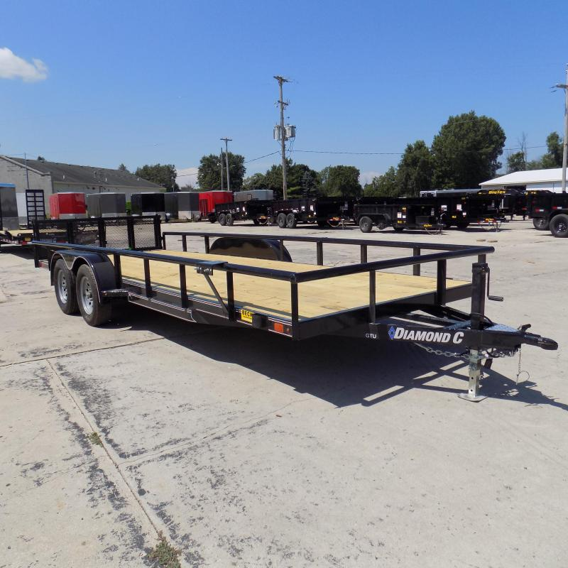 "New Diamond C Trailers 83"" x 20' Open Utility Trailer with Bi-Fold Rear Gate"