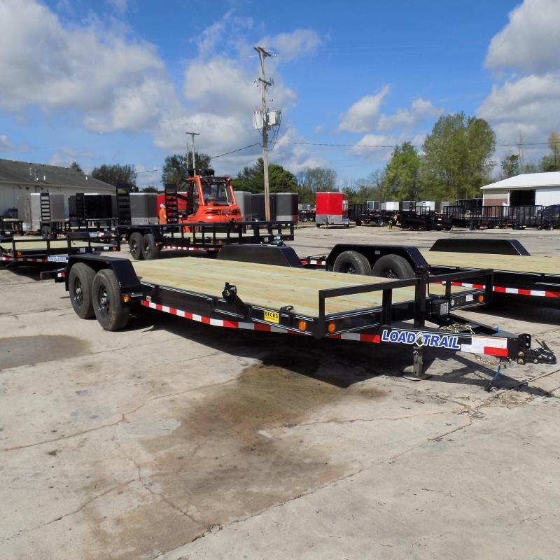 "New Load Trail 83"" x 20' Open Car Hauler With 5200# Axles"