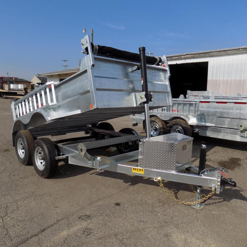 New Galvanized 6' x 10' Dump Trailer with Telescopic Lift
