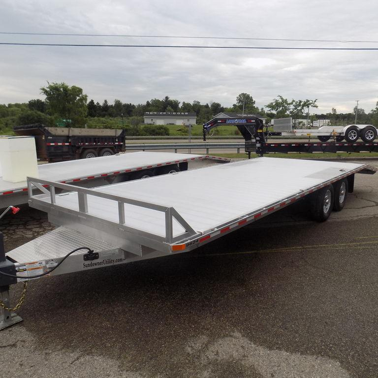 "New Sundowner 96"" x 24' All Purpose Deckover Utility Trailer"