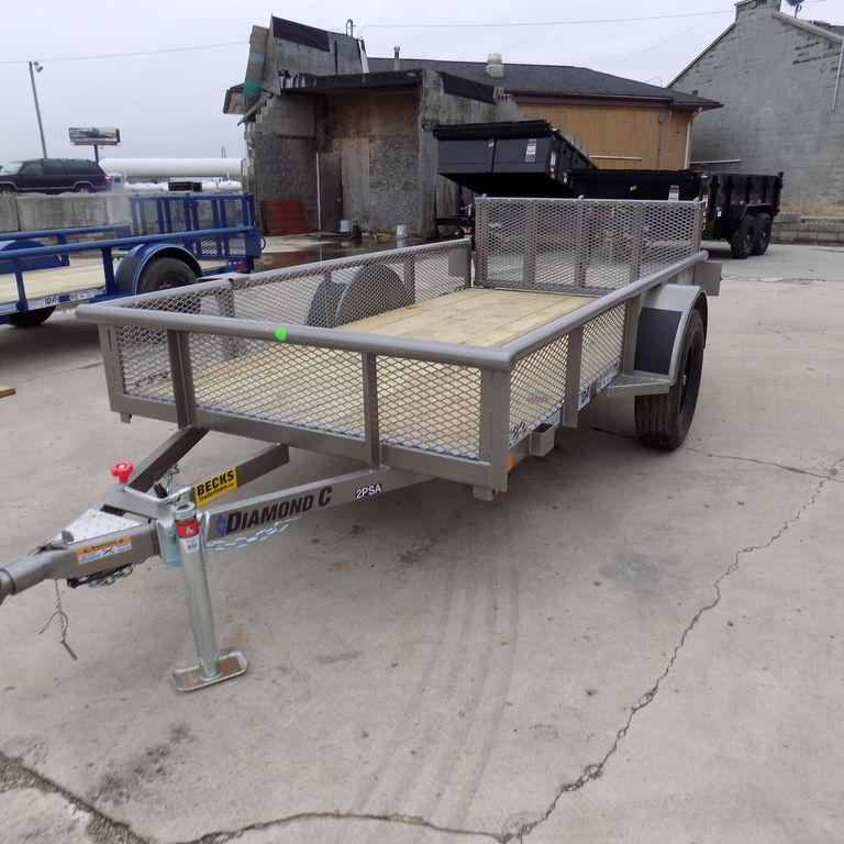 New Diamond C 5' x 10' Utility Trailer with Bi-Fold Gate
