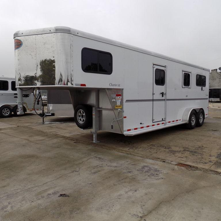 New Sundowner Charter TR Gooseneck 2+1 2 Horse Straight Load Trailer