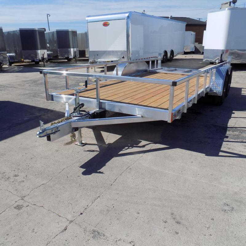 New Legend Open Deluxe 7' x 16' Aluminum Utility Trailer For Sale