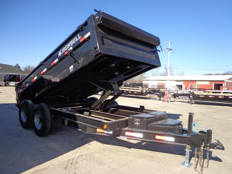 "New Iron Bull 83"" x 14' Dump Trailer with 8K Axle Upgrade"