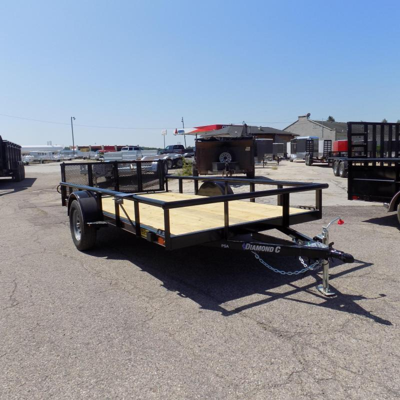 "New Diamond C 77"" x 12' Utility Trailer With Bi-Fold Rear Gate"