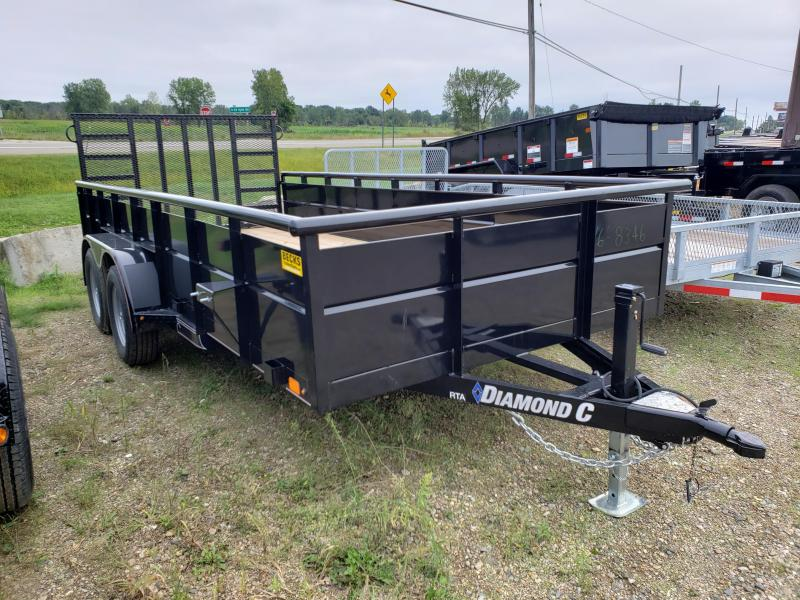 "New Diamond C Trailers 83"" x 16' Utility Trailer With Steel Sides"