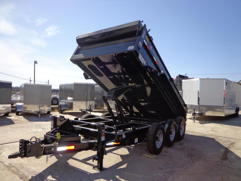 "New Iron Bull 83"" x 14' Triple Axle Dump Trailer"