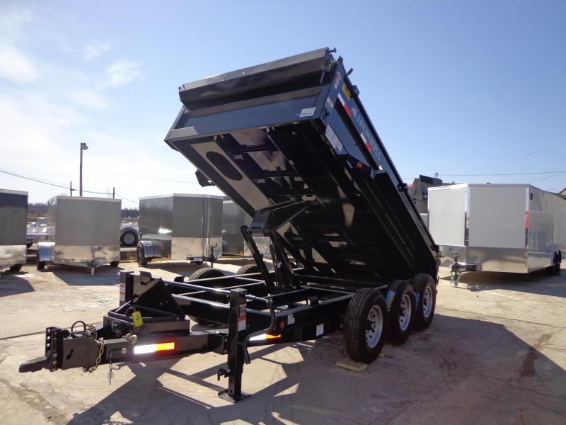 "New Iron Bull 83"" x 14' Triple Axle Dump Trailer"